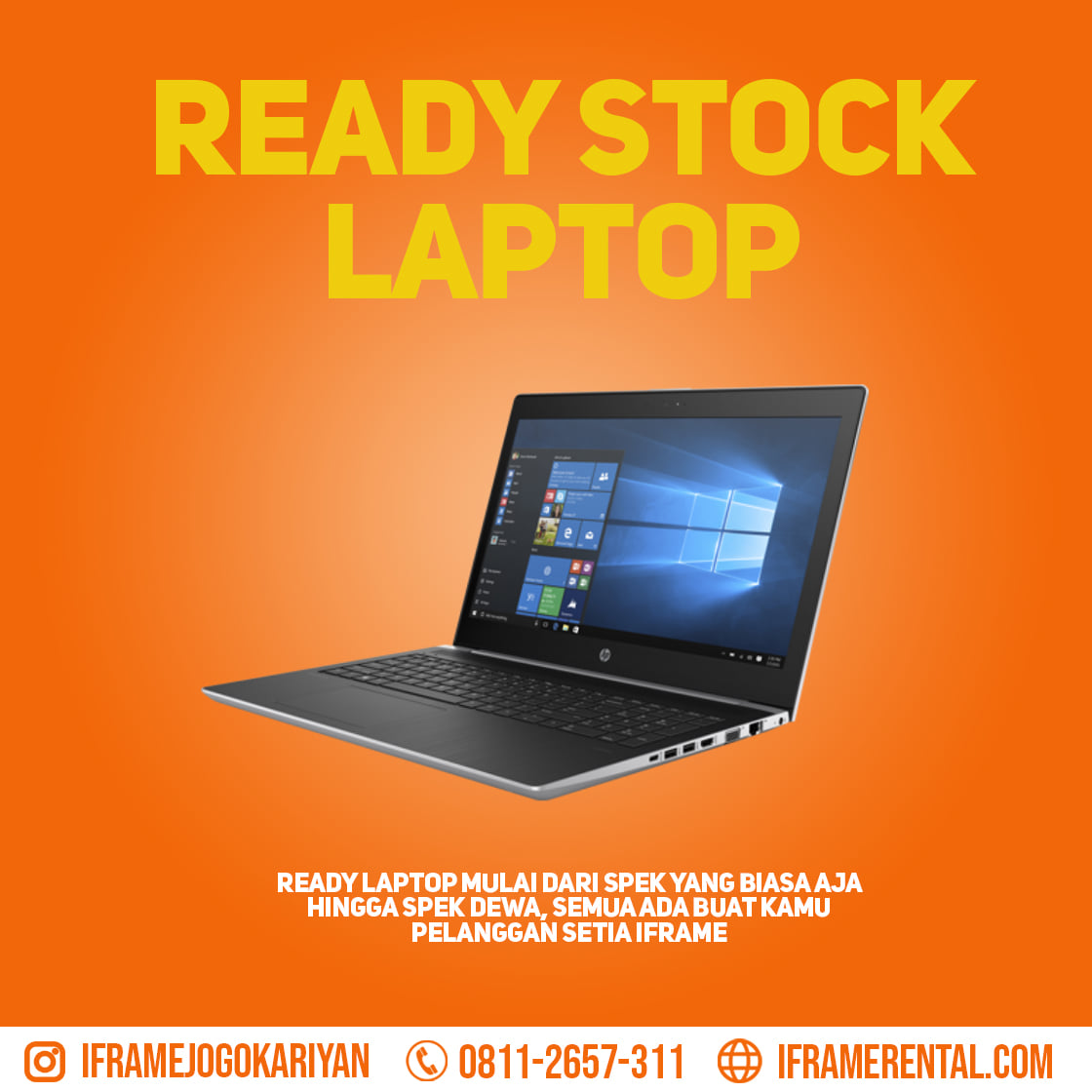 Sewa Laptop di Semarang | 0812.7679.7711 | IFRAME Rental Laptop